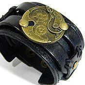 Субкультуры handmade. Livemaster - original item A leather bracelet steampunk