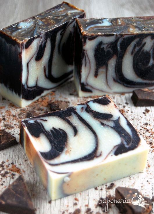 """Мыло ручной работы. Ярмарка Мастеров - ручная работа. Купить Мыло с нуля """" Шоколад"""". Handmade. Чёрно-белый, марципан"""