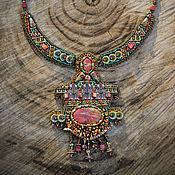 """Украшения ручной работы. Ярмарка Мастеров - ручная работа Колье """"Пирамида майя"""". Handmade."""