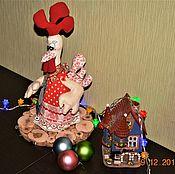 Куклы и игрушки ручной работы. Ярмарка Мастеров - ручная работа огненного петуха подружка- огненная несушка. Handmade.