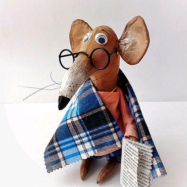 Сувениры и подарки ручной работы. Ярмарка Мастеров - ручная работа Умный Крыс Вениамин символ 2020 года новогодний подарок год крысы. Handmade.