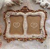 Сувениры и подарки ручной работы. Ярмарка Мастеров - ручная работа Фоторамка на 2 фото в стиле барококо №8. Handmade.
