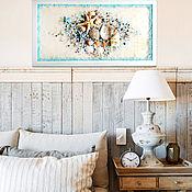 Картины и панно handmade. Livemaster - original item Sea panel on glass/ painting with the sea in the interior in a marine style. Handmade.