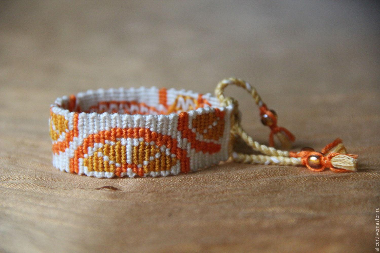 Плетение фенечки из бисера картинки
