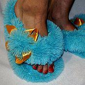 Обувь ручной работы handmade. Livemaster - original item Slippers-shale