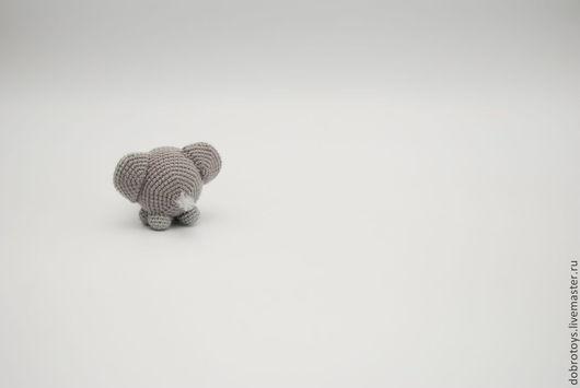 Игрушки животные, ручной работы. Ярмарка Мастеров - ручная работа. Купить Очень одинокий слон. Handmade. Серый, амигуруми, синтепон