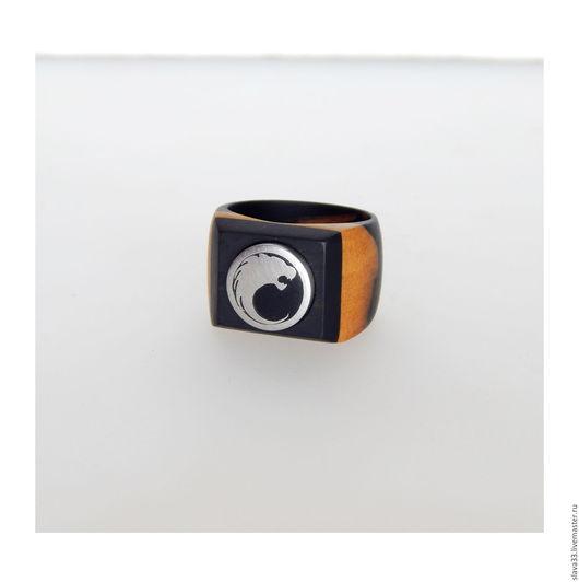 """Кольца ручной работы. Ярмарка Мастеров - ручная работа. Купить Перстень """"Левиафан"""". Handmade. Комбинированный, перстень из дерева, подарок мужчине"""