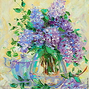 Картины и панно handmade. Livemaster - original item Oil painting on canvas. Sweet breath of lilac.. Handmade.