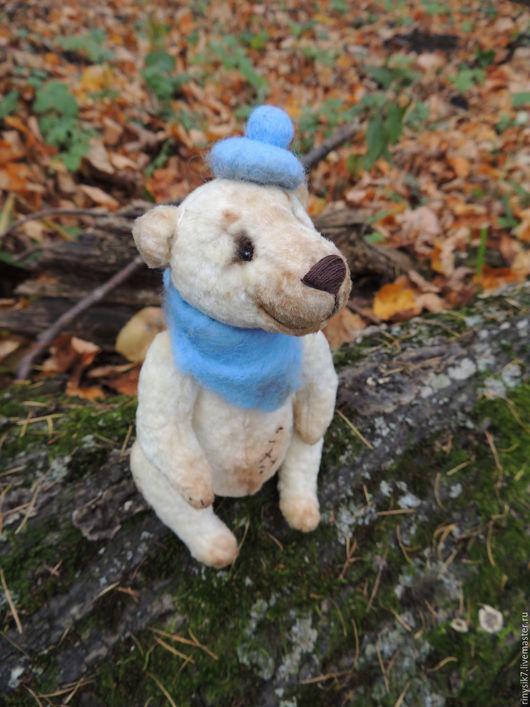 Мишки Тедди ручной работы. Ярмарка Мастеров - ручная работа. Купить Боня-Бонифаций. Handmade. Бежевый, в подарок мишка, диски