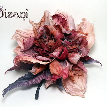 Flowers and floristry handmade. Livemaster - original item Rose brooch