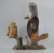 """Статуэтки ручной работы. Ярмарка Мастеров - ручная работа """"Леший"""" (композиция из дерева). Handmade."""