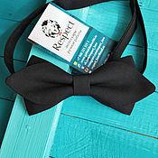 Аксессуары handmade. Livemaster - original item Tie black Mod / bow tie with sharp corners. Handmade.