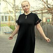 """Одежда ручной работы. Ярмарка Мастеров - ручная работа Летнее платье """"Уютное для Вас""""- реглан,с кружевом,хлопок. Handmade."""