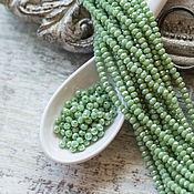 Материалы для творчества handmade. Livemaster - original item Copy of Rondelle beads 2,5x2mm Лагуна. Handmade.