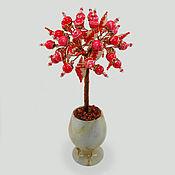 handmade. Livemaster - original item Love tree of rhodonite in a vase of onyx. Handmade.