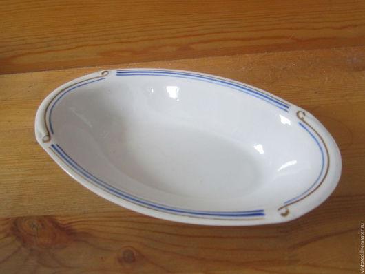 Винтажная посуда. Ярмарка Мастеров - ручная работа. Купить Фарфоровый салатник овальной формы.. Handmade. Белый, винтажная сервировка, фарфор