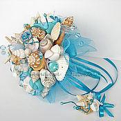Свадебный салон ручной работы. Ярмарка Мастеров - ручная работа Букет в морском стиле Бирюзовая Рапсодия. Handmade.