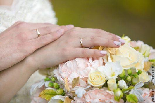 Свадебные цветы ручной работы. Ярмарка Мастеров - ручная работа. Купить Букет невесты. С пионами в золотистых тонах. Handmade.