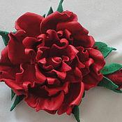 Украшения ручной работы. Ярмарка Мастеров - ручная работа Красная роза. Handmade.