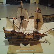 Куклы и игрушки ручной работы. Ярмарка Мастеров - ручная работа Модель корабля Голдин Хинд. Handmade.