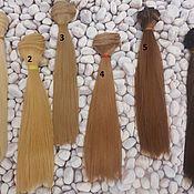 Материалы для творчества ручной работы. Ярмарка Мастеров - ручная работа Волосы для кукол 20 см. Handmade.