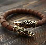 Украшения handmade. Livemaster - original item Leather bracelet ,men`s bracelet. Handmade.
