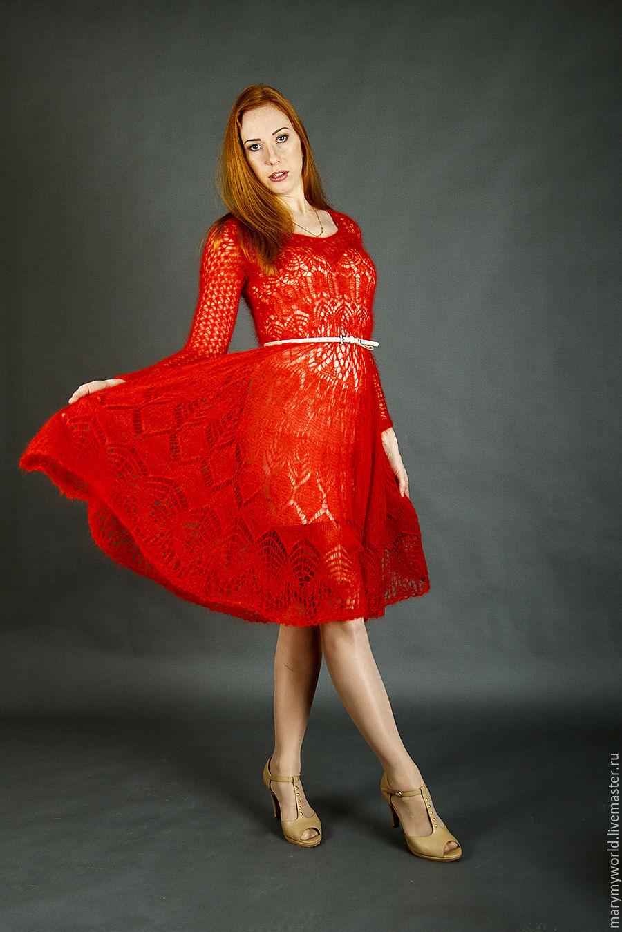 Платье «Есть на свете цветок...» из кид-мохера на шелке, Платья, Астрахань, Фото №1