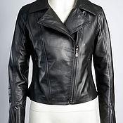 Одежда handmade. Livemaster - original item Leather jacket genuine leather black. Handmade.