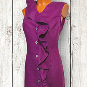 """Одежда ручной работы. Ярмарка Мастеров - ручная работа Льняное платье """"Волна"""". Handmade."""