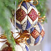 Подарки к праздникам handmade. Livemaster - original item Christmas BALL - set of 4 balls. Handmade.