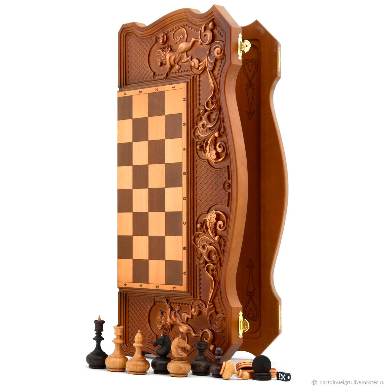 "Copy of Copy of backgammon ""Three bears in the woods"", Chess, Ivanovo,  Фото №1"