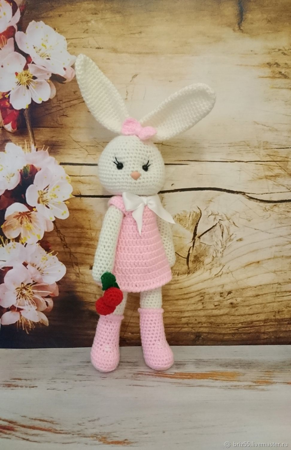 Bunny, knitted soft toy, Stuffed Toys, Zelenograd,  Фото №1