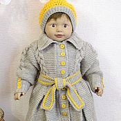 Пальто ручной работы. Ярмарка Мастеров - ручная работа Вязанный комплект для девочки пальтишко и шапочка. Handmade.