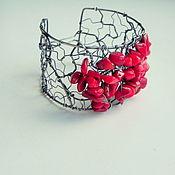 Украшения ручной работы. Ярмарка Мастеров - ручная работа Серебряный браслет с кораллом. Handmade.