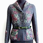 Одежда handmade. Livemaster - original item The felted jacket, anthracite, R. 40-42. Handmade.