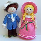 """Куклы и игрушки ручной работы. Ярмарка Мастеров - ручная работа """"Мадемуазель и кавалер"""" вязаные куклы. Handmade."""