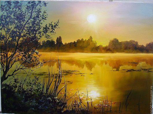"""Пейзаж ручной работы. Ярмарка Мастеров - ручная работа. Купить """"Озеро Светлояр"""". Handmade. Пейзаж, озеро, холст"""