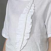 Одежда handmade. Livemaster - original item T-shirts: linen T-shirt in two colors