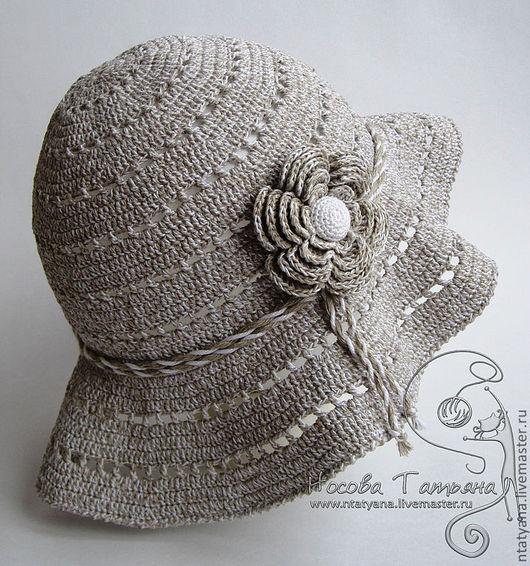 Шляпы ручной работы. Ярмарка Мастеров - ручная работа. Купить Шляпка-панамка Лето на даче. Handmade. Шляпка, шляпка летняя