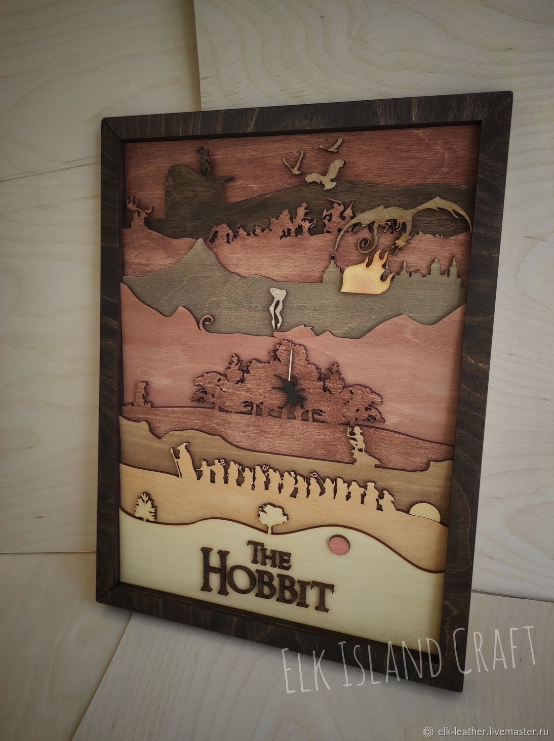 Wooden Multi-layer Hobbit Painting, Panels, Moscow,  Фото №1