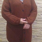 Одежда ручной работы. Ярмарка Мастеров - ручная работа кардиган шерстяной рыжий спицами. Handmade.
