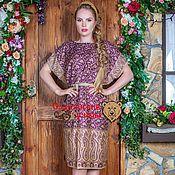 Одежда ручной работы. Ярмарка Мастеров - ручная работа Платье-туника фиолетовая. Handmade.