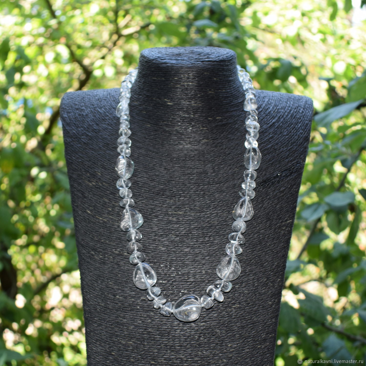 Beautiful necklace natural Ural rock crystal, Beads2, Moscow,  Фото №1