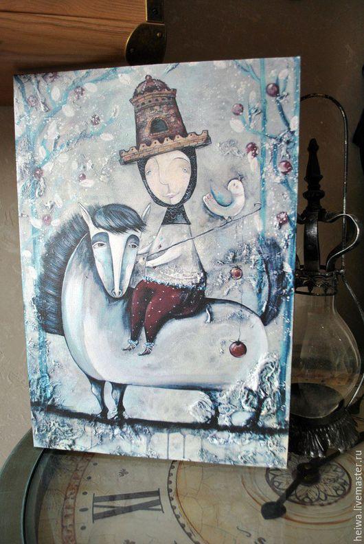 Фантазийные сюжеты ручной работы. Ярмарка Мастеров - ручная работа. Купить Рыцарь и его верный конь (репродукция). Handmade. Конь