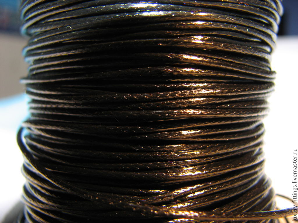 Waxed cord 1mm for jewelry. Elena (luxury fittings)