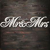 Свадебный салон ручной работы. Ярмарка Мастеров - ручная работа Mr&Mrs (Вариант 1) Длина 50 см. Handmade.