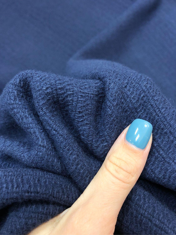 Fabric coat Italy, Italian wool on the coat, blue coat, Fabric, Taganrog,  Фото №1