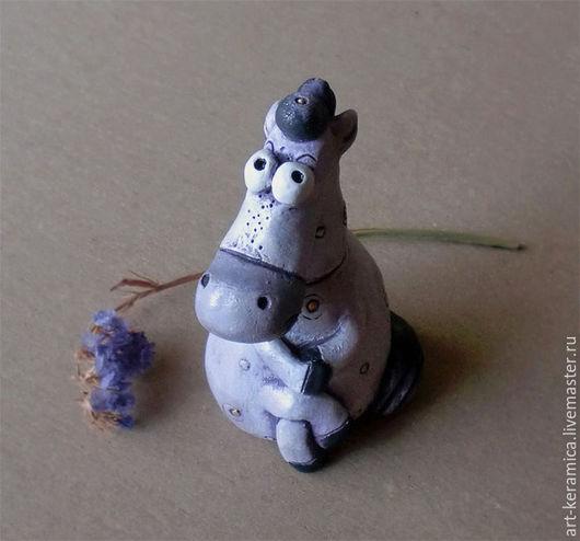 Статуэтки ручной работы. Ярмарка Мастеров - ручная работа. Купить Лошадка керамическая Игоша. Фигурка лошади, статуэтка лошади. Handmade.