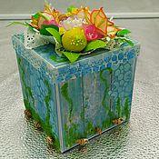 Бумага ручной работы. Ярмарка Мастеров - ручная работа Magik-box подарочная коробочка. Handmade.