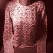 Одежда handmade. Livemaster - original item Delicate pullover with an openwork pattern. Handmade.